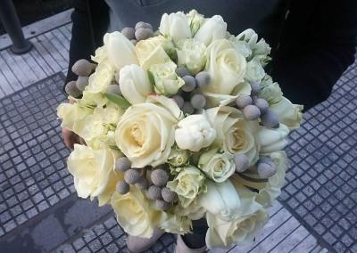 Bridal Bouquet White-Grey