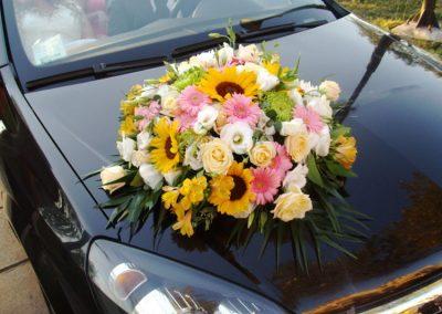 Wedding car boho style
