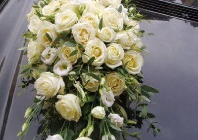 Wedding car arrangement