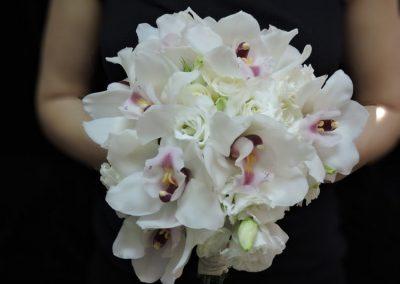 Bridal bouquet orchids