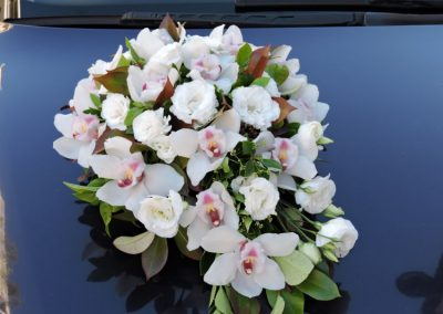 Wedding car orchids