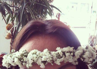 hairpiece me limonium gypsfylli handmade moustakas flowers
